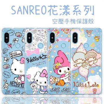 【Hello Kitty】紅米Note 5 花漾系列 氣墊空壓 手機殼