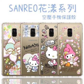 【Hello Kitty】Samsung Galaxy A8+ (2018)  6吋 花漾系列 氣墊空壓 手機殼