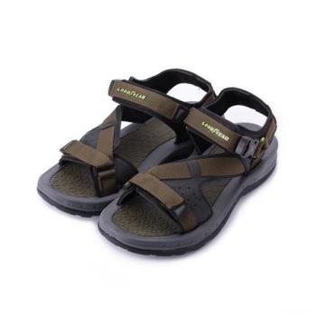 GOODYEAR 城市旅人織帶運動涼鞋 綠 GAMS83635 男鞋 鞋全家福