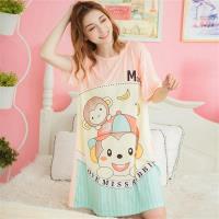 lingling日系 帽子小猴牛奶絲連身裙睡衣(共二色,全尺碼)