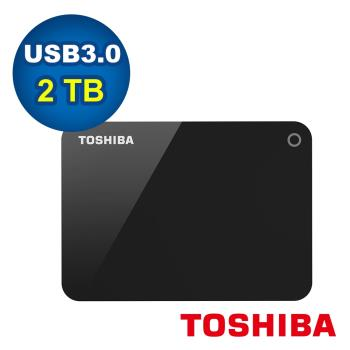 Toshiba 東芝 Canvio Advance 2.5吋 USB3.0 V9 2TB外接式硬碟(黑)-HDTC920AK3AA