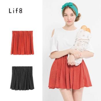 Life8-點點魅力。腰部打摺點點圓裙-52287