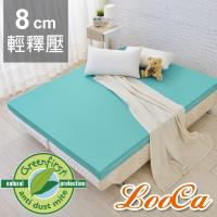 LooCa防蹣防蚊輕釋壓8cm記憶床墊-加大6尺