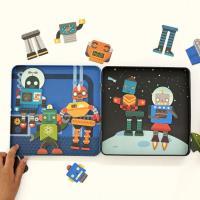 美國Petit Collage - 磁鐵遊戲盒 - 百變機器人