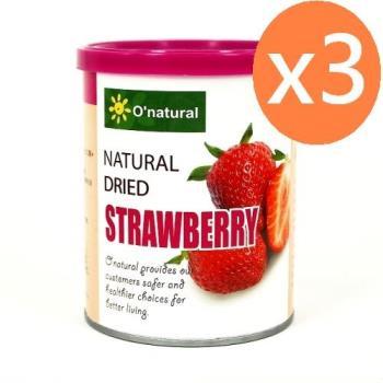 Onatural【歐納丘】天然整顆草莓乾(150g*3罐)