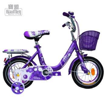 寶盟BAUMER 12吋親子鹿腳踏車 (粉紅)