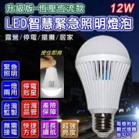 升級版  LED智慧緊急照明燈泡12W  2入組