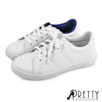 Pretty 綁帶休閒小白鞋N-28072