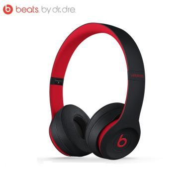 10週年系列 Beats Solo3 Wireless 頭戴式藍芽耳機-桀驁黑紅(公司貨)