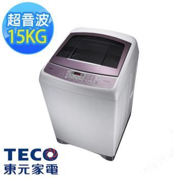 TECO東元 15公斤靜音變頻超音波洗衣機 W1591XW 福利品