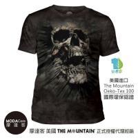 摩達客- (預購) 美國The Mountain都會系列 突破骷髏頭 藝術中性修身短袖T恤  個性時尚柔軟舒適高級混紡