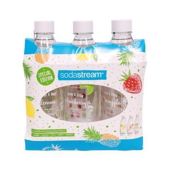 Sodastream 夏日果宴水滴寶特瓶1L- 3入