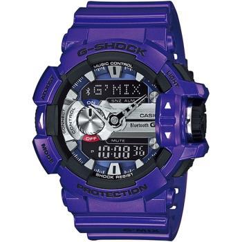 CASIO G-SHOCK GMIX GBA-400音樂控制系列錶款-靛藍紫(GBA-400-2A)