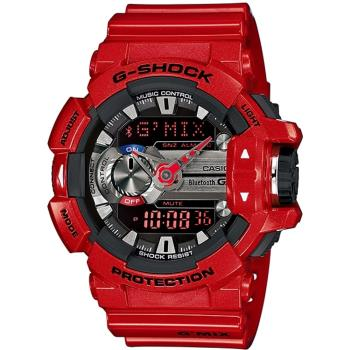 CASIO G-SHOCK GMIX GBA-400音樂控制系列錶款-紅(GBA-400-4A)