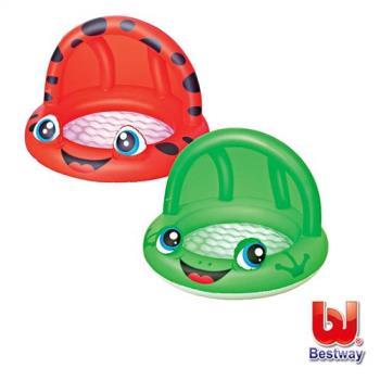 哈街 Bestway可愛造型遮陽兒童兩用充氣戲水/遊戲池-2色
