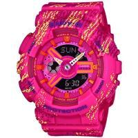 BABY-G BA-110 TX少女時代漸層感霧狀腕錶-桃紅(BA-110TX-4A)