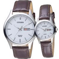 CITIZEN 星辰 經典純粹愛戀對錶 BF2001-12A+EQ0591-21A
