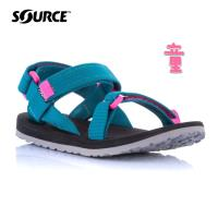 SOURCE 兒童URBAN織帶涼鞋  【海洋藍-粉】 101093OQ / 城市綠洲
