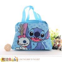魔法Baby 便當袋 迪士尼史迪奇授權正版提袋~f0283