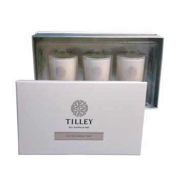 Tilley百年特莉 香氛大豆蠟燭60gx3三入禮盒 - 荔枝,檸檬草,萊姆椰子