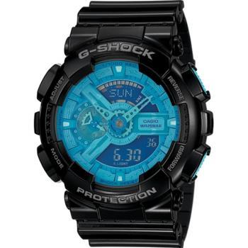 G-SHOCK 炫彩系列復刻版男錶-黑x藍(GA-110B-1A2)