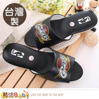 魔法Baby 室內拖鞋 台灣製NBA授權騎士隊正版~sk0435