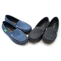 cher美鞋MIT輕量平底手縫樂福美鞋-黑色/藍色