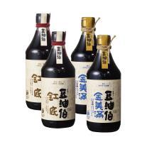 【豆油伯】滿缸健康醬油組_缸底醬油X2、金美滿無添加糖醬油X2(各500ml)