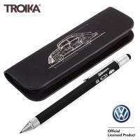 TROIKA德國Volkswagen福斯授權工具筆工程筆盒組(原子筆.觸控筆.起子.水平儀.尺)PEC74/BS或PEC75/BS金龜車Beetle