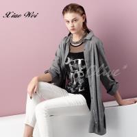CHENG DA 春夏專櫃精品女裝時尚流行長袖櫬衫 NO.018127