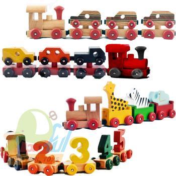 【Playful Toys 頑玩具】台灣製造木製磁性拖拉火車 外銷日本 小火車 磁性小火車