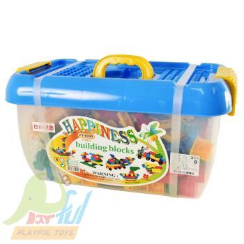 【Playful Toys 頑玩具】方形桶裝大顆粒積木310片台灣製造 積木 樂高相容 優質積木 益智 趣味 兒童玩具