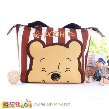 魔法Baby 手提袋 迪士尼小熊維尼正版保溫保冷提袋~f0292