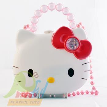 【Playful Toys 頑玩具】KITTY頭型珠寶盒(手提包 家家酒 玩具組 模型 鏡子 化妝包梳子 正版HELLO KITTY)