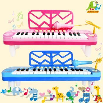 【Playful Toys 頑玩具】電子琴+麥克風(兒童樂器 電子鋼琴 外接mp3 麥克風 鋼琴彈奏 音樂琴玩具)