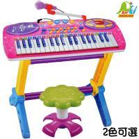 【Playful Toys 頑玩具】37鍵電子琴+麥克風(多功能電子琴 鋼琴彈奏 兒童樂器玩具 電子鋼琴 外接mp3 麥克風)