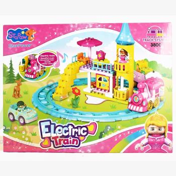 【Playful Toys 頑玩具】夢幻火車積木(女孩夢幻樂園 建構積木 益智積木 主題積木 大顆粒積木 樂高相容)