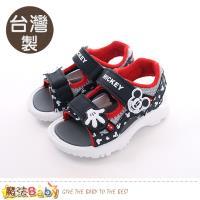 魔法Baby 童鞋 台灣製迪士尼米奇正版兒童運動涼鞋~sk0441