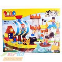 【Playful Toys 頑玩具】海盜積木組(益智啟蒙趣味DIY 海盜樂園 積木組裝遊戲組 海盜模型 幼兒學習 啟蒙積木)