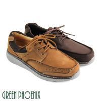 GREEN PHOENIX 簡單線條網布車線綁帶牛麂皮休閒鞋(男鞋)T29-18808
