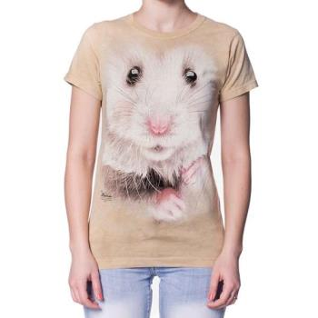 摩達客 美國進口The Mountain   倉鼠臉 短袖女版T恤精梳棉環保染