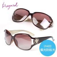 米卡索 Gucci設計師圖騰款 寶麗萊UV400偏光太陽眼鏡(MS3043-咖啡)