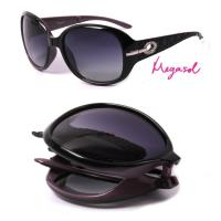 米卡索 寶麗萊UV400摺疊偏光太陽眼鏡(MS6214Z-內紫)