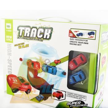 【Playful Toys 頑玩具】回力軌道(迷你 軌道車 CAR 迴力車 小賽車 兒童益智力 玩具車)