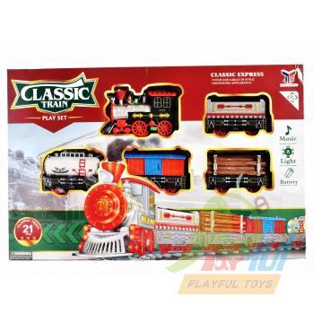 【Playful Toys 頑玩具】電動軌道火車(軌道車 電動車 兒童玩具 仿真蒸汽火車 仿古軌道火車)