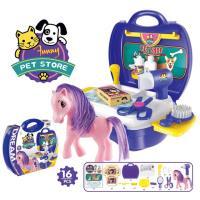 【Playful Toys 頑玩具】手提小馬寵物盒 (玩具手提箱 手提玩具盒 手提玩具箱 兒童玩具 家家酒)