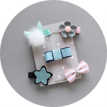 可愛造型5件組兒童髮夾 寶寶髮夾 兒童髮飾【2組入】(共10個)