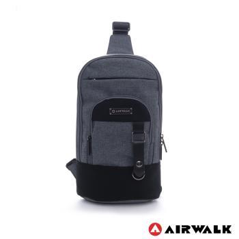美國 AIRWALK 中性色調多功能單肩包(亞麻灰)
