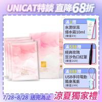 UNICAT 變臉貓 女神面膜 晶鑽礦物奇跡光透代謝面膜  (3片入/盒)