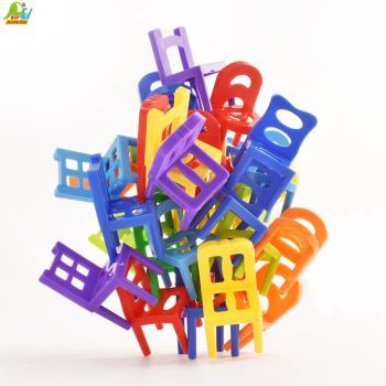 【Playful Toys 頑玩具】DIY遊戲疊疊椅(顏色認知 創造力 親子互動 椅子 家家酒 七彩 疊疊樂 好質感 趣味)